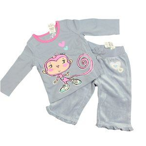 NWT PLACE Gray & Pink 2 pc Outfit 6-9 mo